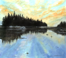 Morning In Maine Watercolor Painting
